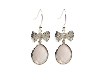 OH SO PRETTY EARRINGS SILVER ROSE