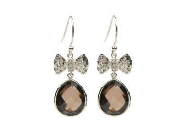 OH SO PRETTY EARRINGS SILVER SMOKEY