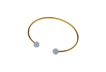 PLANET BRACELET GOLD BLUE LACE