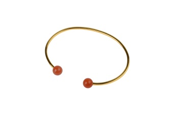 PLANET BRACELET GOLD RED ONYX