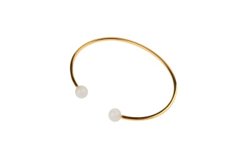 PLANET BRACELET GOLD WHITE AGATE