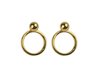 PLANET EARRINGS GOLD GOLD
