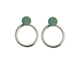 PLANET EARRINGS SILVER AMAZONITE