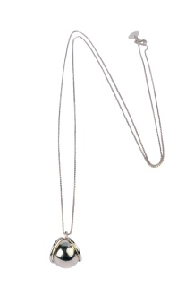 PLANET NECKLACE SILVER SILVER