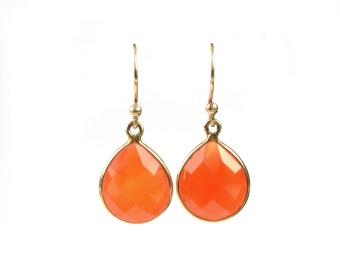 RAINDROP EARRINGS CARNELIAN
