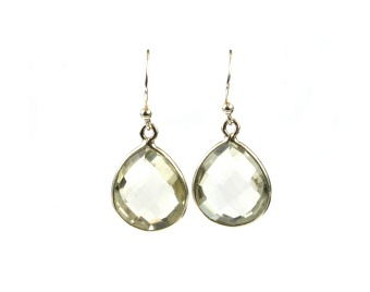 RAINDROP EARRINGS GREEN AMETHYST