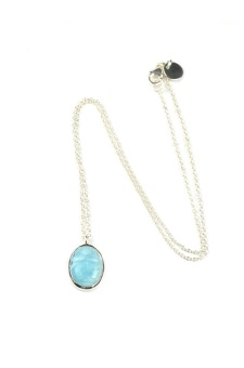 SCARAB NECKLACE, LARIMAR