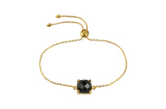 SINGLE CUSHION BRACELET GOLD BLACK ONYX