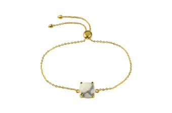 SINGLE CUSHION BRACELETS GOLD HOWLITE