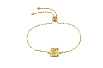 SINGLE CUSHION BRACELET GOLD LEMON QUARTZ