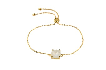 SINGLE CUSHION BRACELET GOLD MOONSTONE