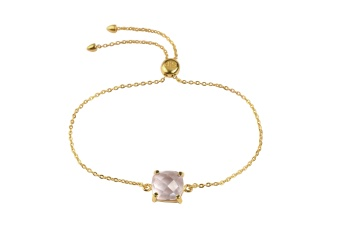 SINGLE CUSHION BRACELET GOLD PINK AMETHSYST