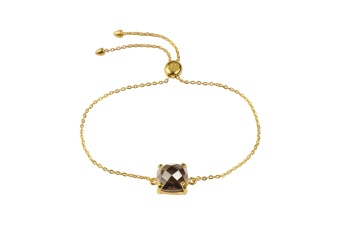 SINGLE CUSHION BRACELET GOLD SMOKEY