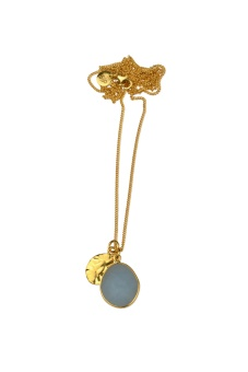 SINGLE NUGGET NECKLACE GOLD ANGELITE