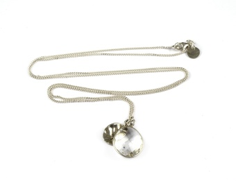 SINGLE NUGGET NECKLACE CRYSTAL