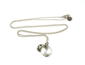 SINGLE NUGGET NECKLACE GREEN AMETHYST