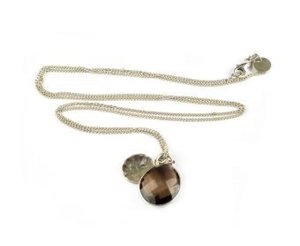 SINGLE NUGGET NECKLACE SMOKEY QUARTZ