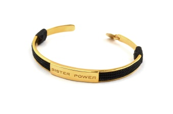 SISTER POWER BRACELET BLACK GOLD