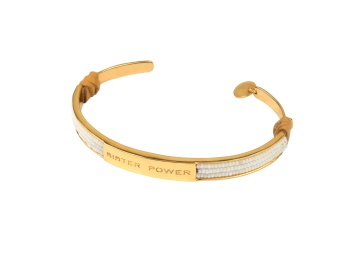 SISTER POWER BRACELET WHITE GOLD