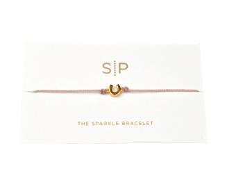 SPARKLE BRACELET HORSE SHOE DUSTY PINK