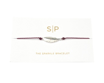 SPARKLE BRACELET FEATHER GRAPE
