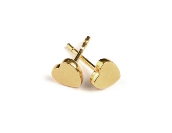 SPARKLE HEART EARRINGS GOLD