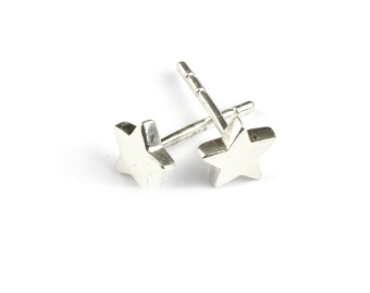 SPARKLE STAR EARRINGS SILVER