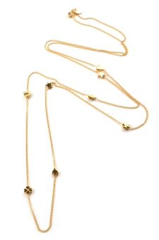 SPARKLE LONG NECKLACE GOLD