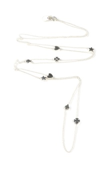 SPARKLE LONG NECKLACE SILVER