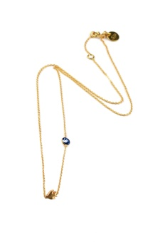 SPARKLE NECKLACE GOLD BIRD, BLUE SAI