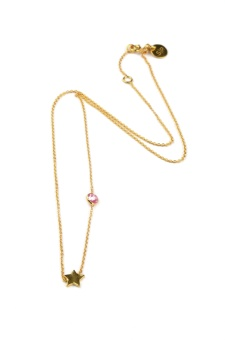 SPARKLE NECKLACE STAR, PINK TOURMALINE