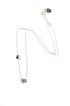SPARKLE NECKLACE SILVER STAR, BLUE IOLITE