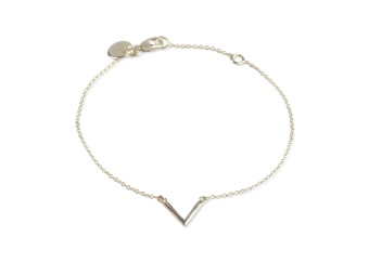 STRICT SIMPLE V BRACELET SILVER