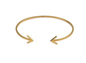 STRiCT PLAIN BANGLE ARROW, GOLD