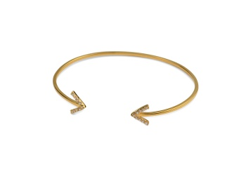 STRICT SPARKLING BANGLE ARROW GOLD