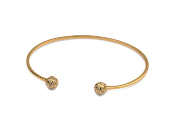 STRICT SPARKLING BANGLE BALL GOLD
