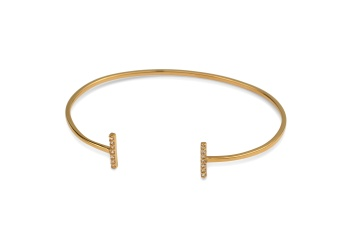 STRICT SPARKLING BANGLE BARS GOLD