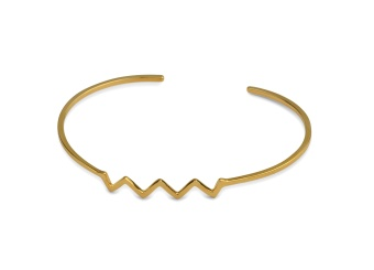 STRICT PLAIN BANGLE ZIG-ZAG GOLD