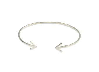 STRICT PLAIN BANGLE ARROW, SILVER