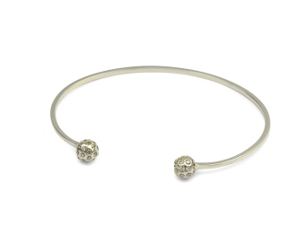 STRICT SPARKLING BANGLE BALL SILVER