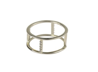 STRICT DOUBLE ROW RING SILVER
