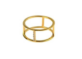 STRICT DOUBLE ROW RING GOLD
