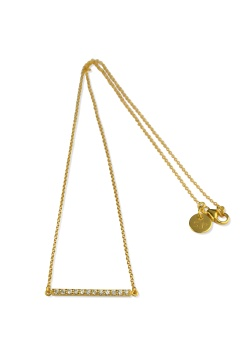 STRICT SPARKLING LINE NECKLACE GOLD