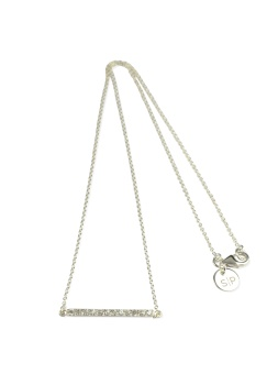 STRICT SPARKLING LINE NECKLACE SILVER
