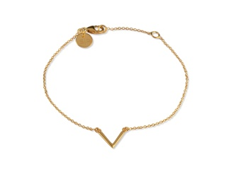 STRICT SIMPLE V BRACELET GOLD