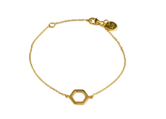 STRICT SIMPLE HEXAGON BRACELET GOLD