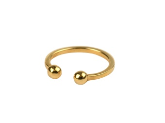 STRICT BALL RING GOLD