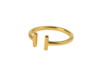 STRICT PLAIN BAR RING GOLD