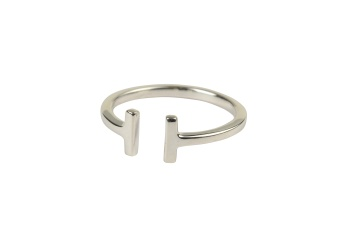 STRICT PLAIN BAR RING SILVER