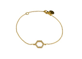 STRICT SPARKLING HEXAGON BRACELET GOLD